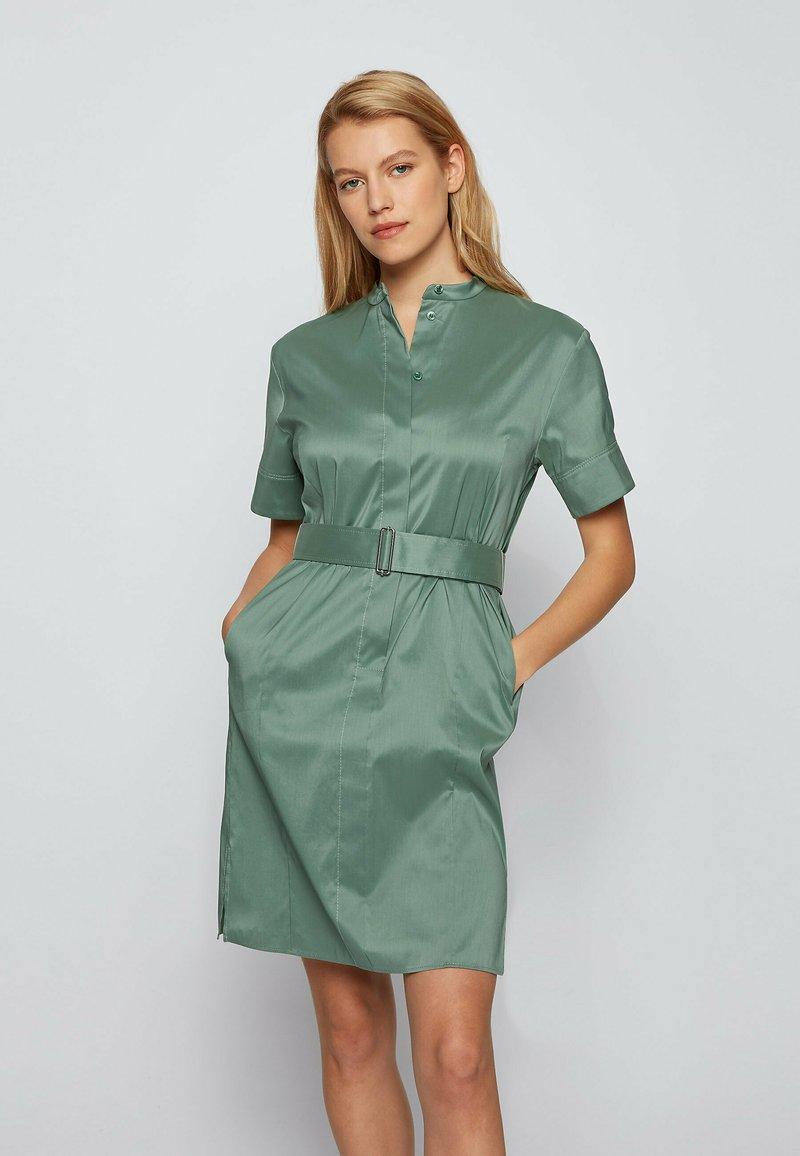 BOSS - DASHILA - Abito a camicia - light green