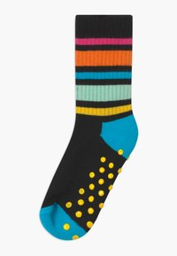 Happy Socks - KIDS HOT DOG/RAINBOW STRIPE 2 PACK UNISEX - Socks - black/white - 1