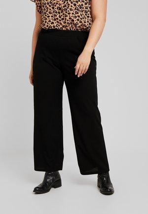SANDIE WIDE PANT - Teplákové kalhoty - black