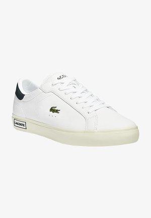 Sneakers laag - wht/dk grn