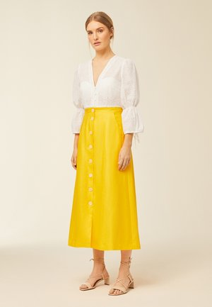 A-line skirt - sun yellow