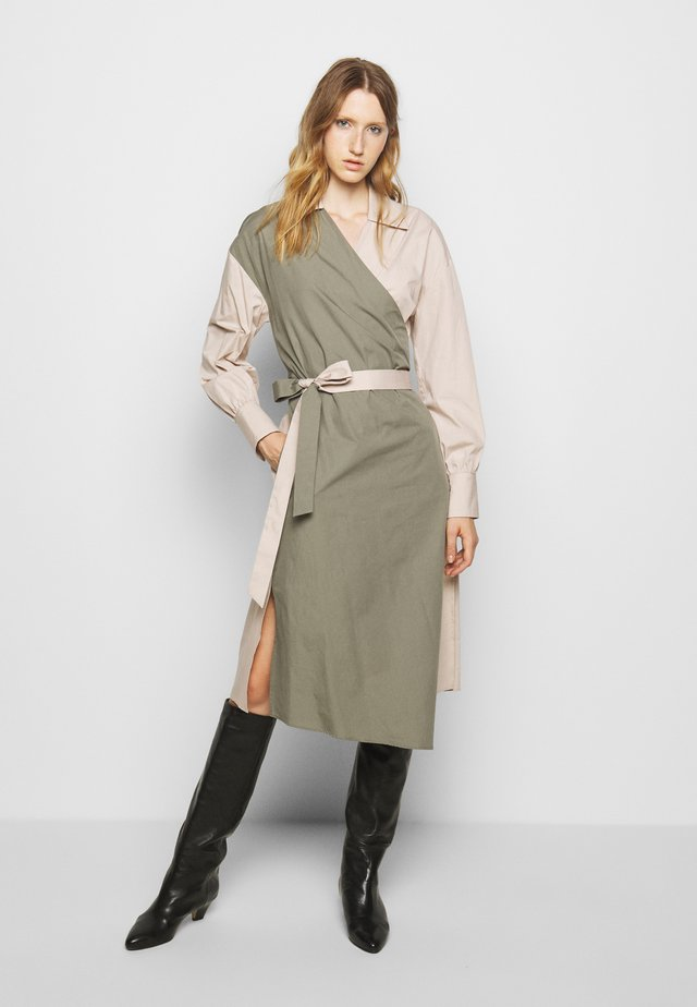 KETA COPO - Shirt dress - dust green