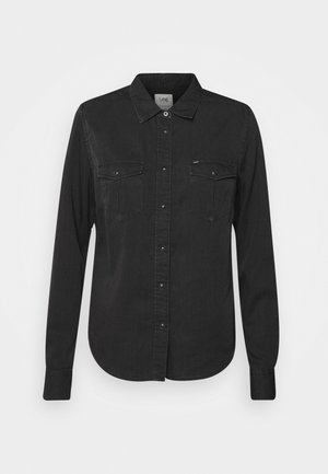 REGULAR WESTERN - Button-down blouse - black