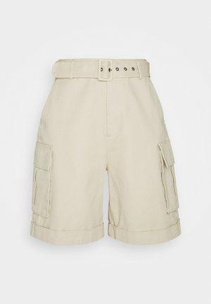 OBJKAREN  - Denim shorts - sandshell