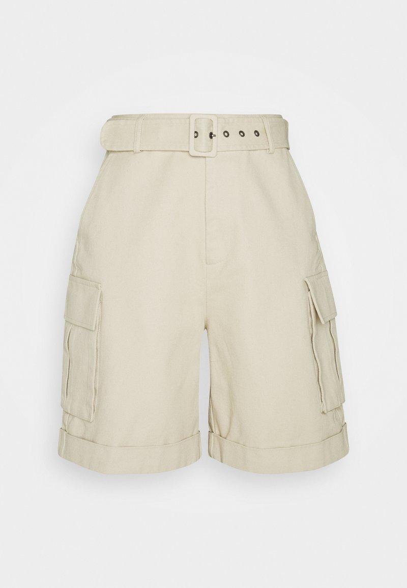 Object - OBJKAREN  - Denim shorts - sandshell
