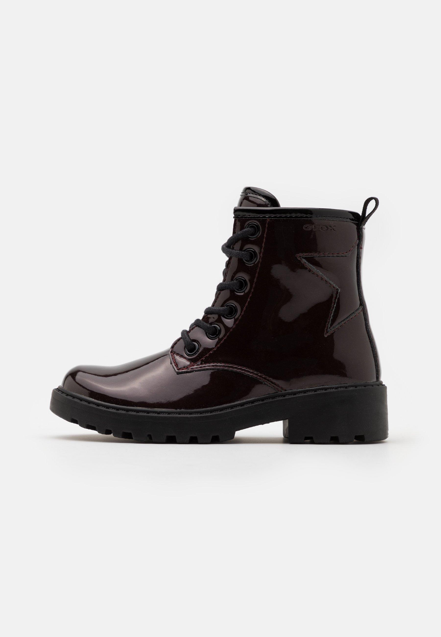 crucero reducir Aceptado  Geox CASEY GIRL - Lace-up ankle boots - dark burgundy - Zalando.de