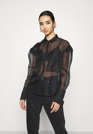 WARREN EXCLUSIVE - Button-down blouse - black