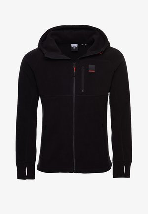POLAR FLEECE - Zip-up hoodie - black