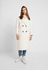 Topshop - KIM BOUCLE - Classic coat - ivory - 0