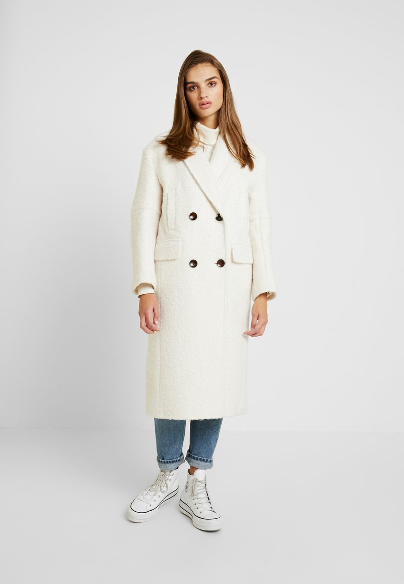 Topshop - KIM BOUCLE - Classic coat - ivory