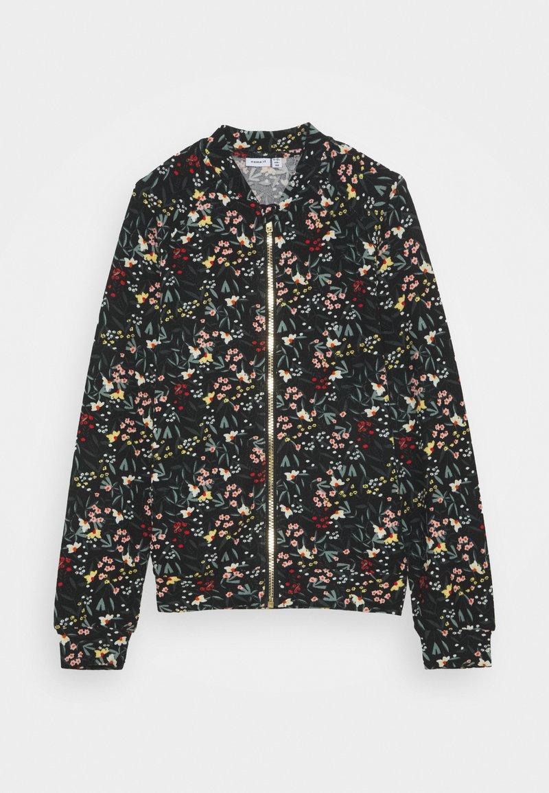 Name it - NKFLAUREN - Zip-up hoodie - black