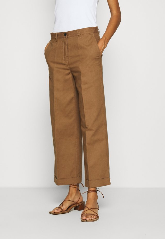 Spodnie materiałowe - deep tobacco