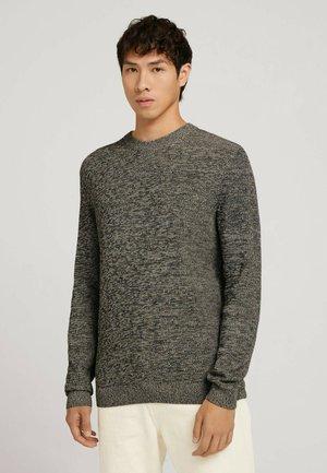 Pullover - beige black mouline