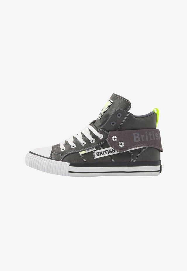 ROCO TAG - Sneakers laag - dk grey/neon yellow