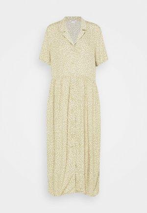 Maxi dress - khaki/offwhite