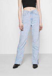 Weekday - ROWE SPLIT - Straight leg jeans - lula blue - 0