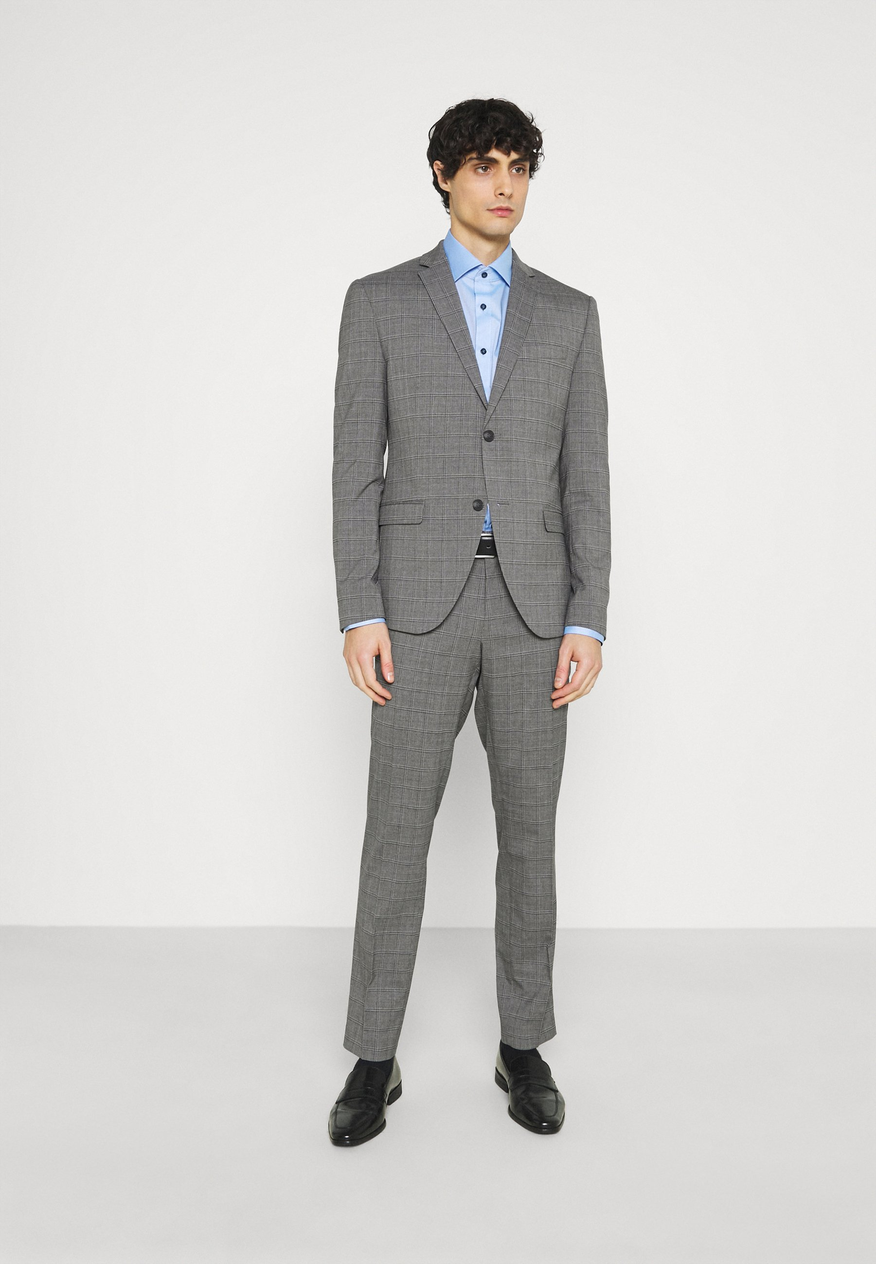 Homme CHECK SUIT - Costume - grey
