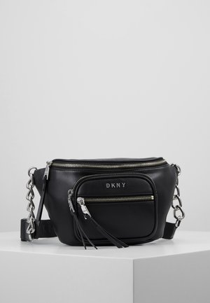 ABBY  - Bum bag - black/silver