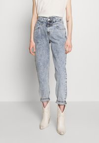River Island - Jeansy Relaxed Fit - mid acid wash - 0