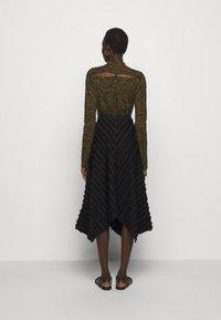 Proenza Schouler White Label - FRINGE FIL COUPE SKIRT - A-line skirt - black - 2