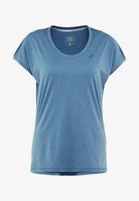 ASICS - CAPSLEEVE - Print T-shirt - mako blue heather - 3
