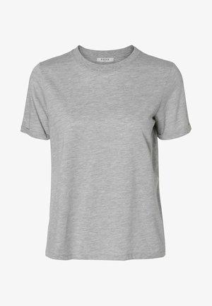 Basic T-shirt - light grey melange
