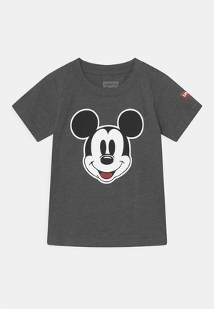 MICKEY MOUSE HEAD UNISEX - T-shirt z nadrukiem - charcoal heather