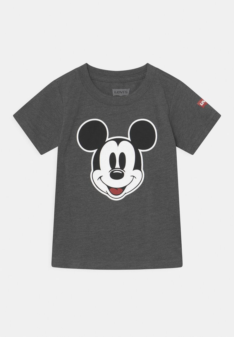 Levi's® - MICKEY MOUSE HEAD UNISEX - Print T-shirt - charcoal heather