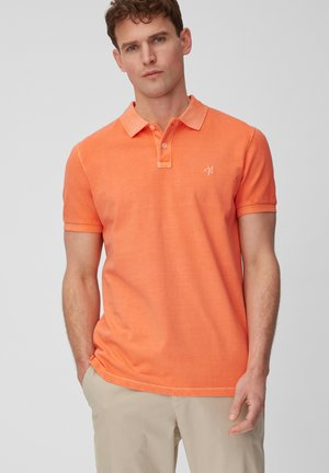 SHORT SLEEVE BUTTON PLACKET - Poloshirt - orange