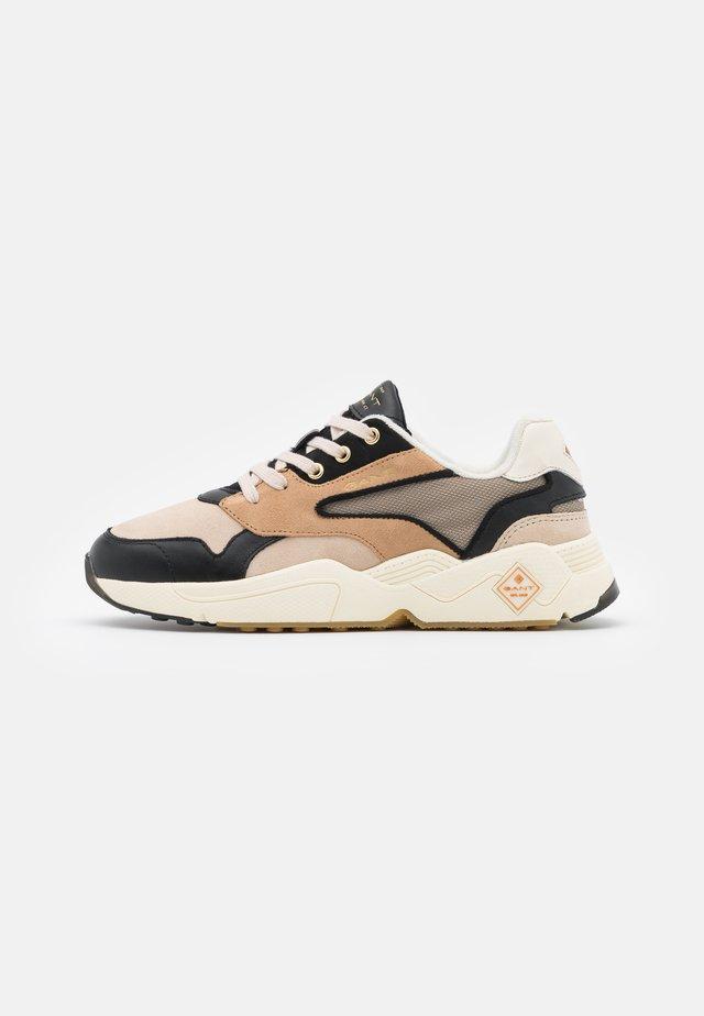 NICEWILL RUNNING - Sneakers laag - beige/black