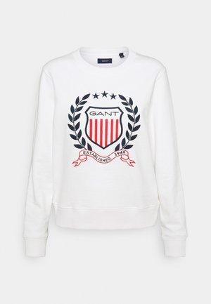 CREST C NECK - Sweatshirt - eggshell