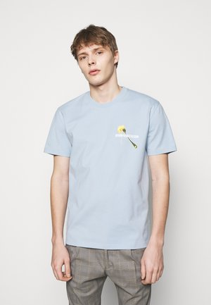 SAMUEL PASTA - Print T-shirt - light blue