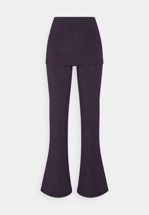 PANTS SKIRT - Tracksuit bottoms - dark aubergine