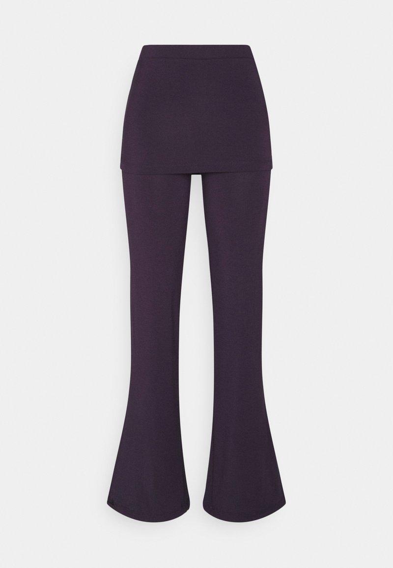 Curare Yogawear - PANTS SKIRT - Trainingsbroek - dark aubergine