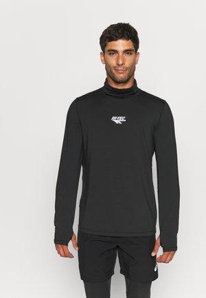 HENRI HIGH NECK - Long sleeved top - jet black