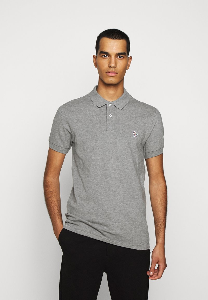 PS Paul Smith - MENS SLIM FIT - Poloshirts - mottled grey