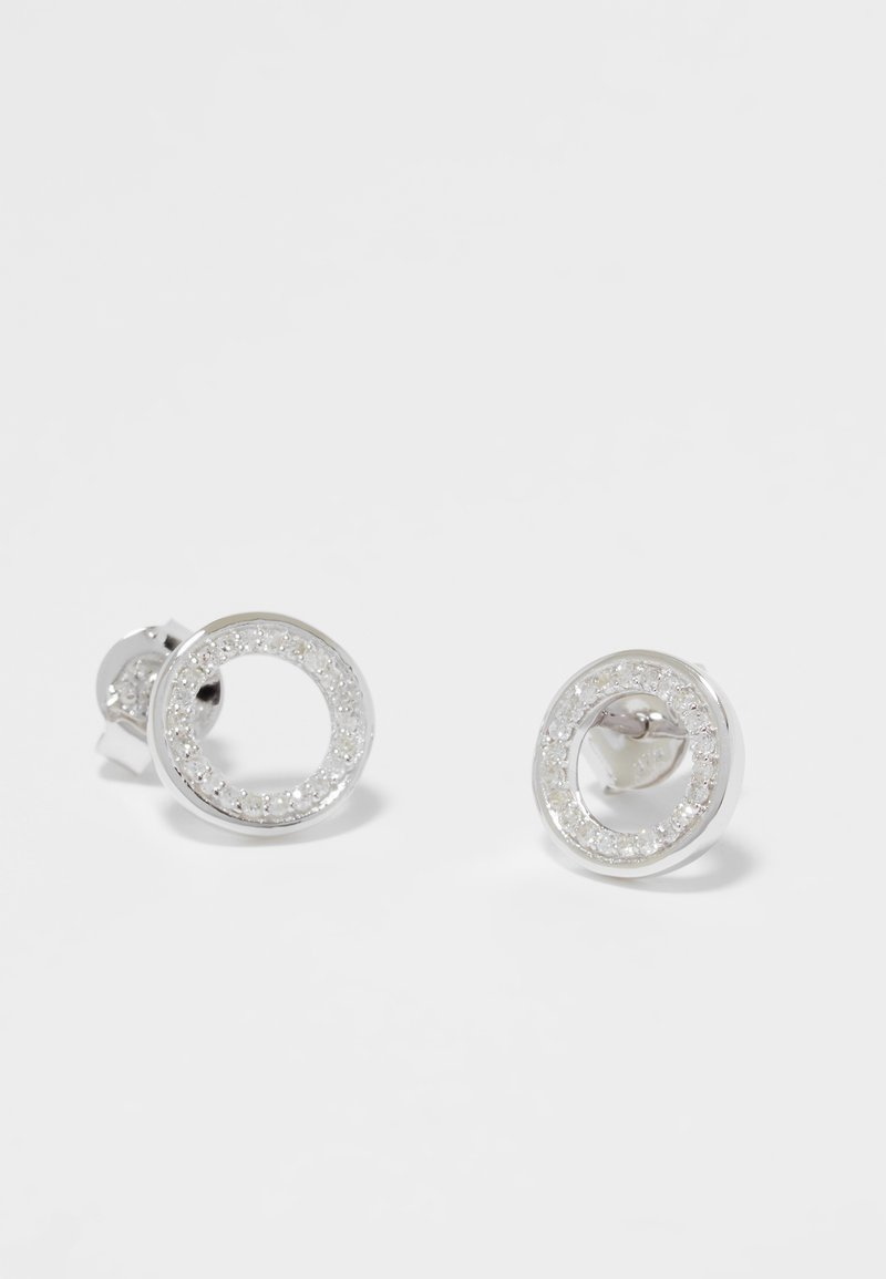 DIAMANT L'ÉTERNEL - WHITE GOLD - Earrings - silver-coloured