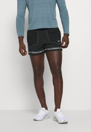 STRIDE - Short de sport - black/dk smoke grey/reflective silver