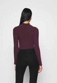 New Look - TURTLE NECK BODY - Long sleeved top - dark burgundy - 2