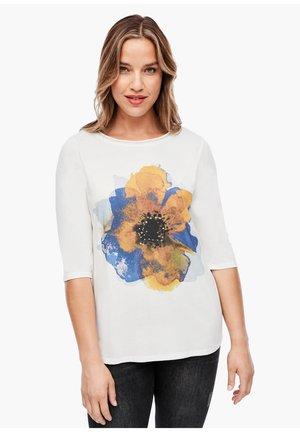 Longsleeve - cream flower print