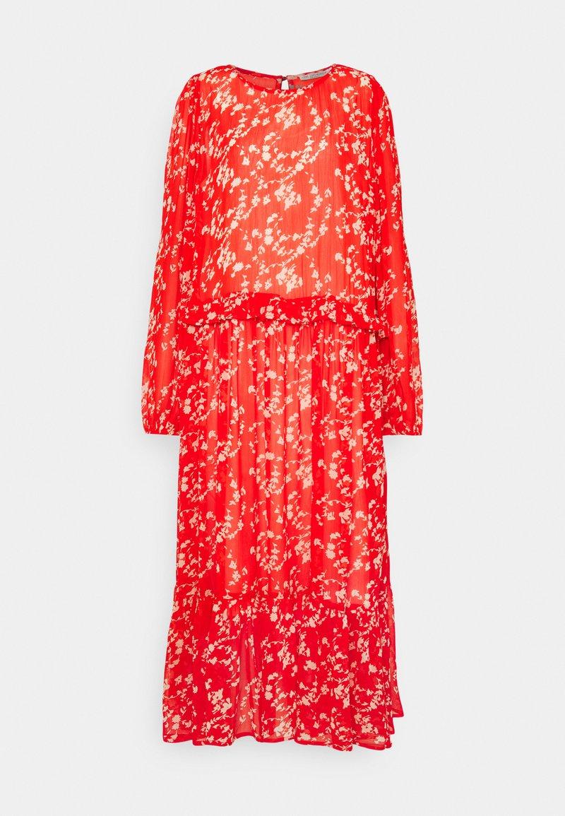 Love Copenhagen - BUGA DRESS - Maxi dress - tomato red/white