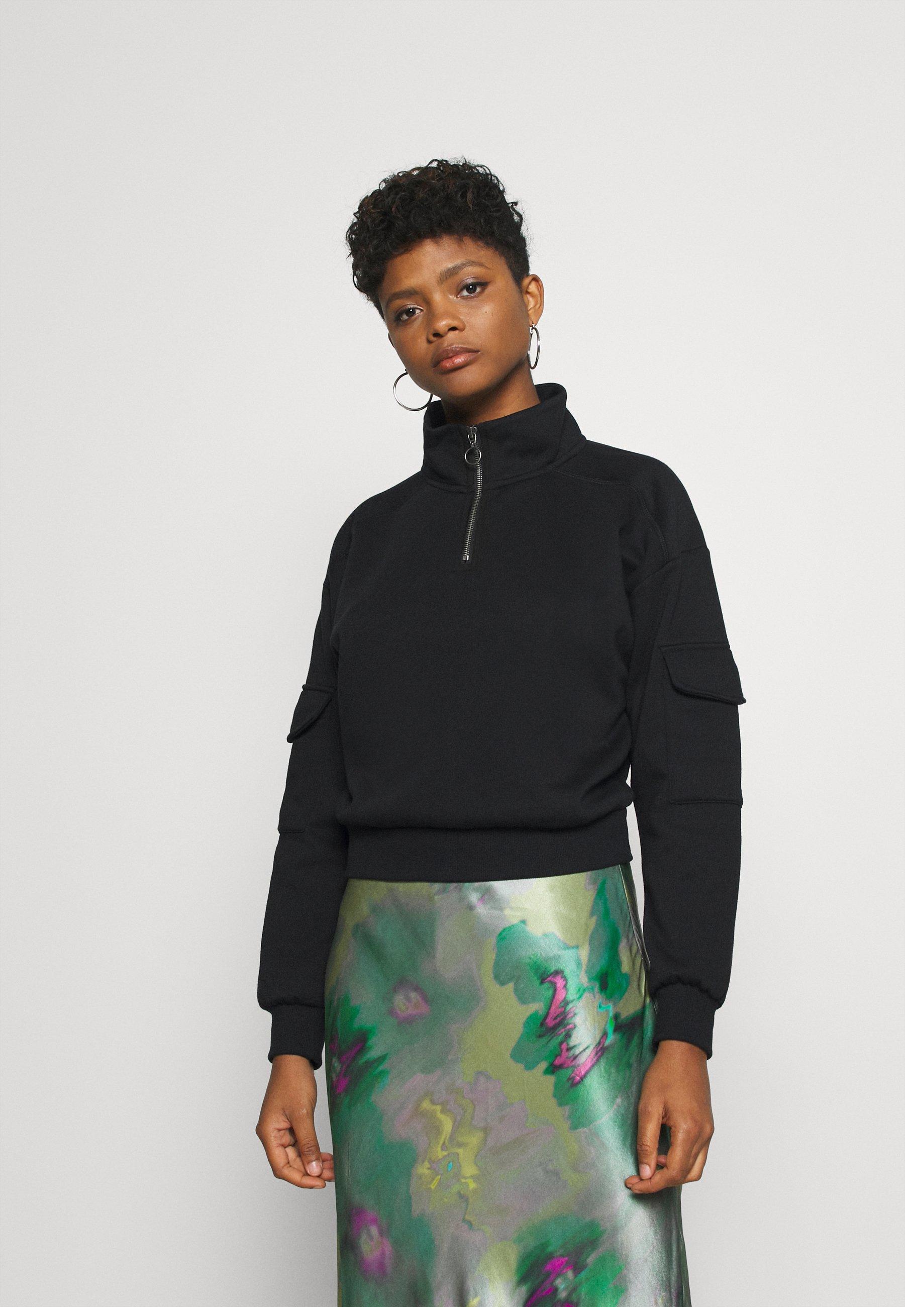 Women NMHELENE ZIP - Sweatshirt