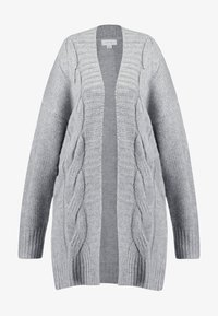 Lost Ink Plus - CABLE CARDIGAN - Gilet - grey - 4