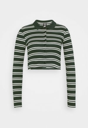 STRIPED CARDI - Long sleeved top - green
