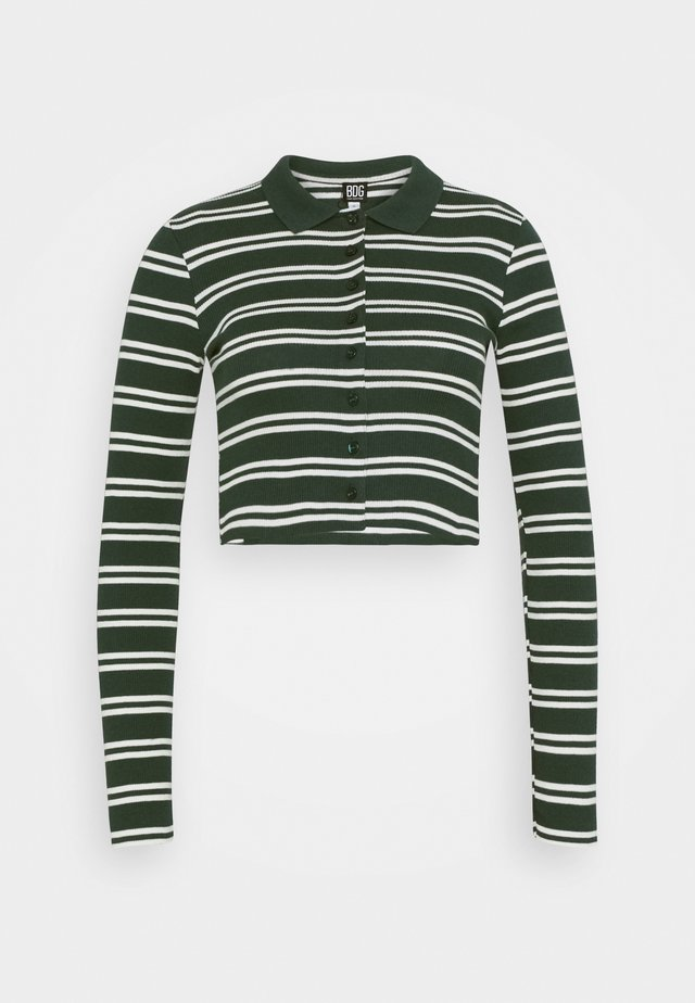 STRIPED CARDI - T-shirt à manches longues - green