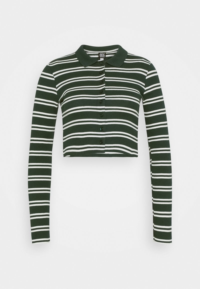 BDG Urban Outfitters - STRIPED CARDI - Long sleeved top - green