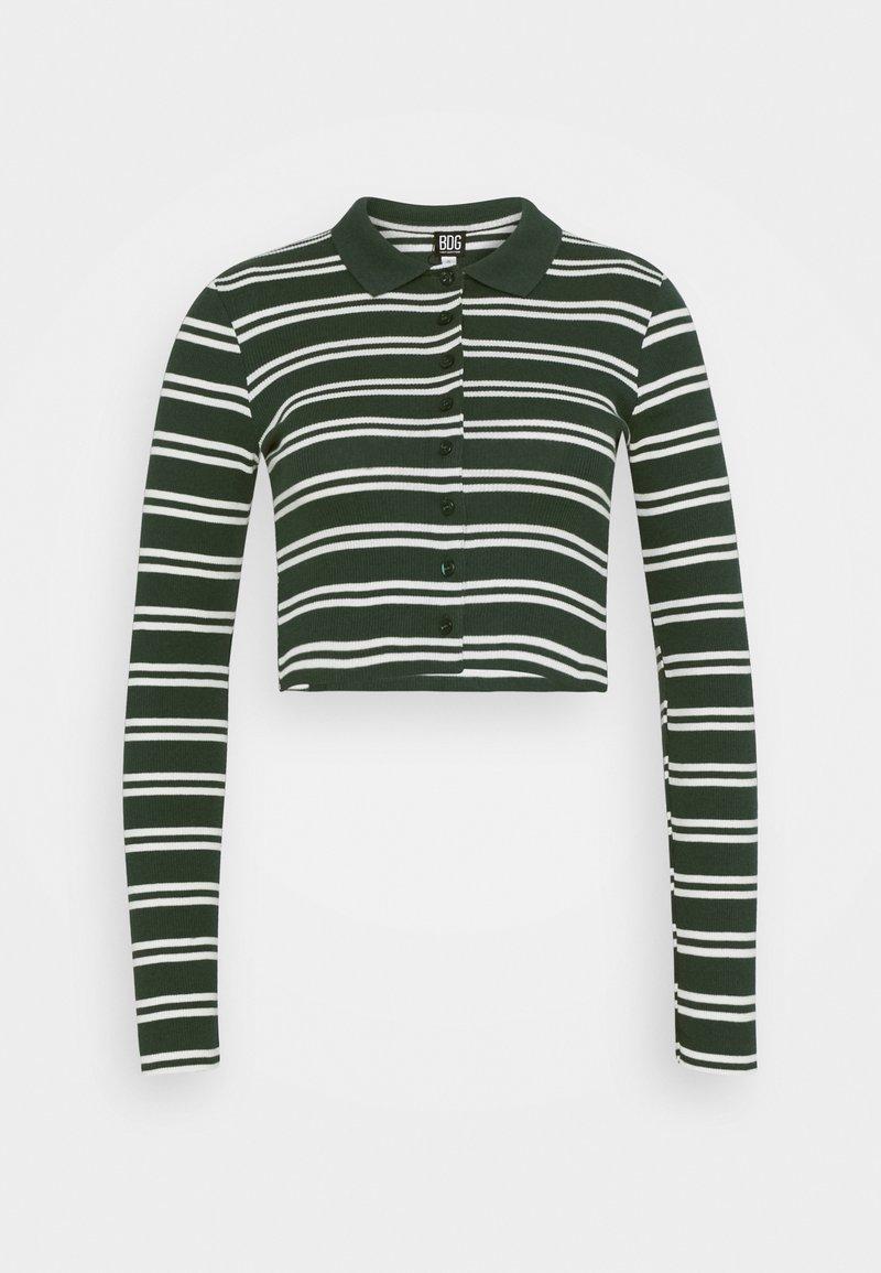 BDG Urban Outfitters - STRIPED CARDI - Langarmshirt - green