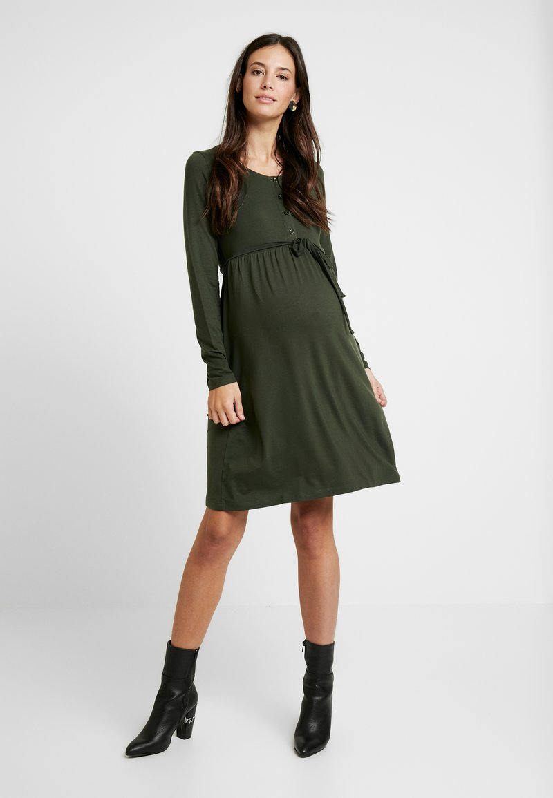 MAMALICIOUS - NURSING DRESS - Jersey dress - climbing ivy
