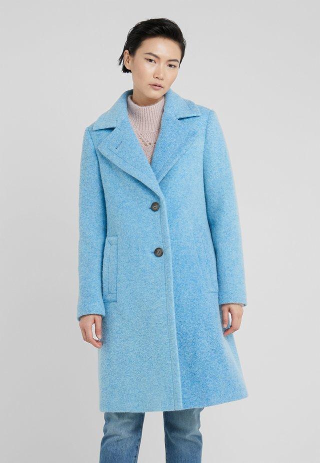 COLD DYED CLARETA LONG - Classic coat - medium blue