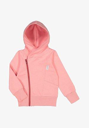 Zip-up sweatshirt - pastel coral/cherry bomb